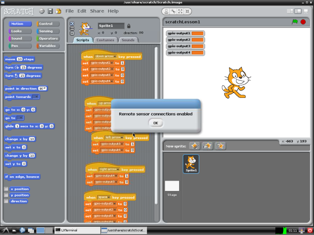 Scratch with file loaded.